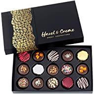 Hazel & Creme Chocolate Gift Boxes - 15 Cookies - Chocolate Covered Cookies - Get Well, Thank You, Holiday Cookie Gift Box - Variety Gourmet Food Gifts