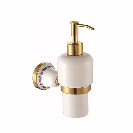 LAONA Continental Gold Ceramic Bath Towel Rack Mount Kit For Coat Hook  Toilet Brush Holder Paper