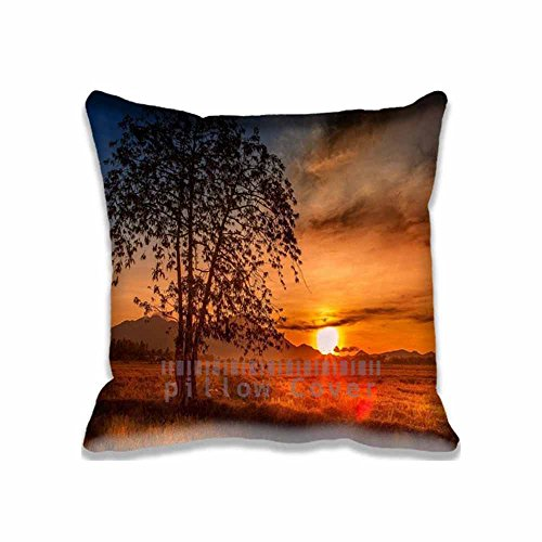 Malaysia Tree Sunset Digital Print Pillow Cover Square Pillow Case Sofa Cushion Cover Deco 18x18 inch(2 - The Online Sun Malaysia