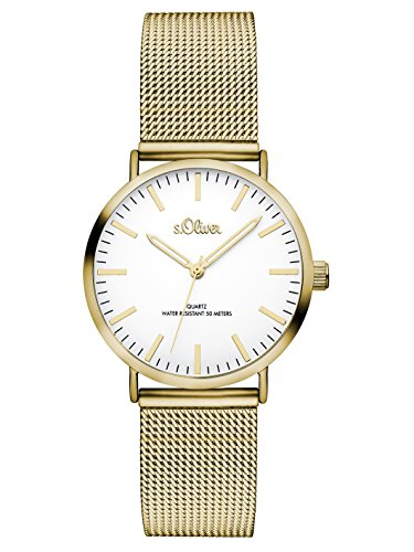 S.Oliver Women's Analogue Quartz Watch with Stainless Steel Bracelet – SO-3271-MQ