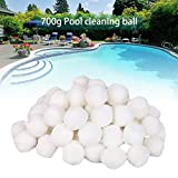 Blueyouth Pool Fiber Ball, 700g Swimming Pool Cleaning Equipment Special Fine Filter Fiber Ball Filter Light High Strength Durable Swimming Pool Cleaning