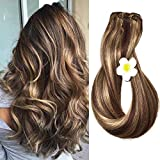 Best Human Hair Extensions - Human Hair Extensions Clip in Medium Brown Review
