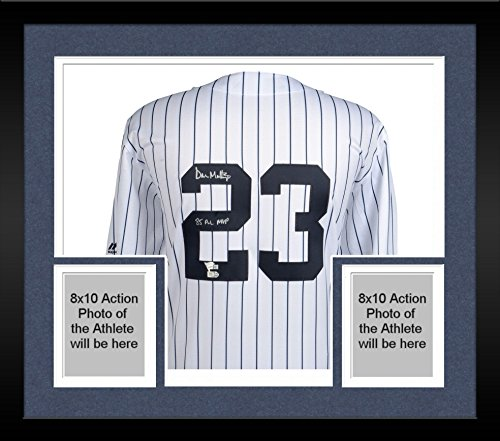 - Framed Don Mattingly New York Yankees Autographed Majestic Replica White Cooperstown Collection Jersey with