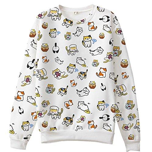 Womens Atsume Sweatshirt Polyester Sweater