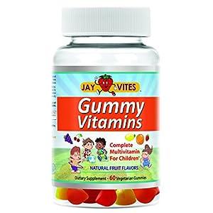 JayVites All-natural Vegetarian Multivitamin Gummies 60 Count for Kids Gelatin-Free Gluten-Free, Allergen-Free All-Natural, Organic