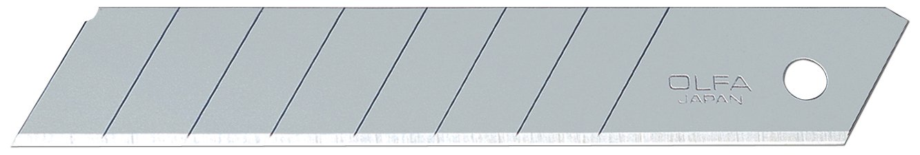 OLFA 5016 LB-50B 18mm Snap-Off Heavy-Duty Silver Blade, 50-Pack