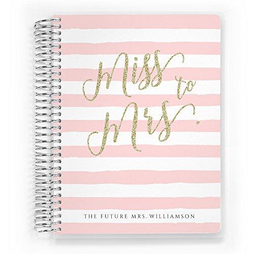 "Customized Wedding Planner, Custom Engagement Gift, Wedding Organizer, Bride Planner, Miss to Mrs Wedding Planner by PurpleTrail (Small 6"" x 8"")"