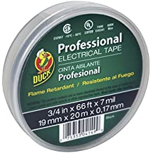 Duck Brand 299019 Professional Grade Electrical Tape, 3/4-Inch by 66 Feet, Single Roll, Black