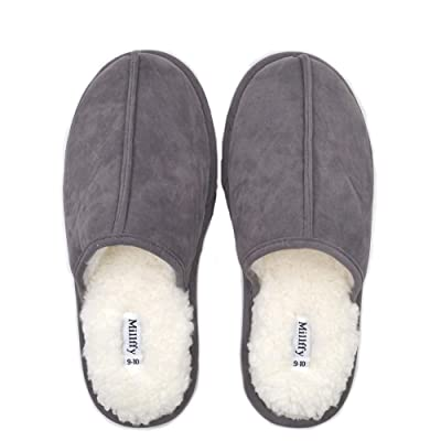 New Men's Comfort Memory Foam Slippers Fuzzy Plush Slip-on Clog House Shoes Indoor Outdoor Scuff Fluff Slippers | Slippers