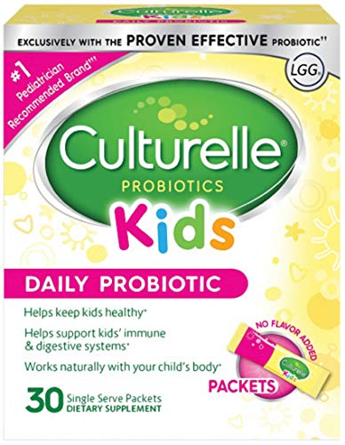 Culturelle Kids Packets Daily Probiotic Supplement | Helps Support a Healthy Immune & Digestive System* | #1 Pediatrician Recommended Brand††† | 30 Single Packets | Package May Vary ()