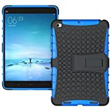 Heartly Flip Kick Stand Spider Hard Dual Rugged Armor Hybrid Bumper Back Case Cover For Xiaomi Mi Pad 2 / Mi Pad 3 - Power Blue