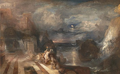 'Joseph Mallord William Turner The Parting Of Hero And Leander ' Oil Painting, 16 X 26 Inch / 41 X 66 Cm ,printed On Polyster Canvas ,this High Resolution Art Decorative Prints On Canvas Is Perfectly Suitalbe For Dining Room Decor And Home Decoration And Gifts