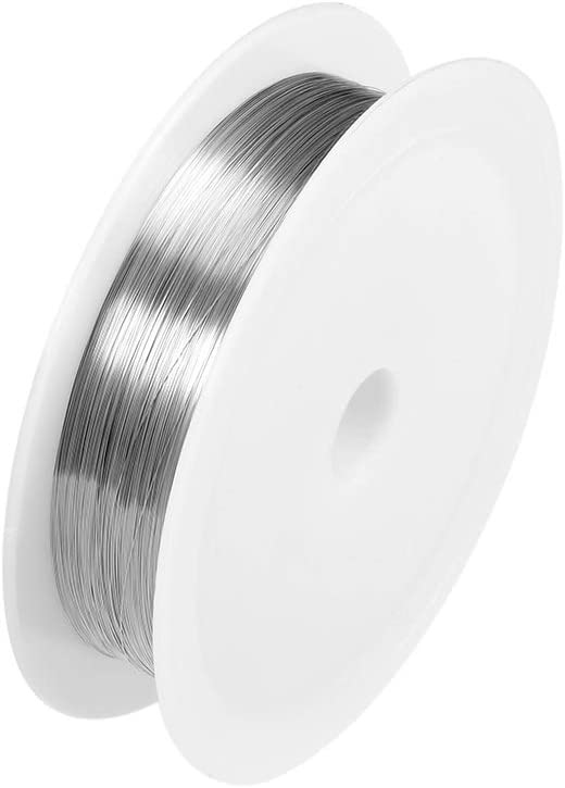 uxcell 0.1mm 38AWG Heating Resistor Wire Wrapping Nichrome Resistance Wires for Heating Elements 229.7ft