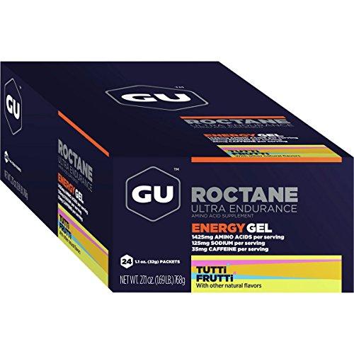 GU Roctane Energy Gel – 24 Pack Tutti Frutti, One Size