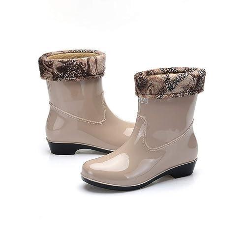 ce7bc5fa1 Botas de Agua Mujer Impermeable Botas de Lluvia de Moda Zapatos de  Seguridad con Goma  Amazon.es  Zapatos y complementos