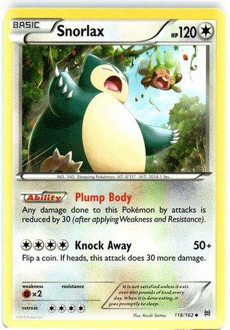 Pokemon - Snorlax (118/162) - XY Breakthrough (Snorlax Card Pokemon)