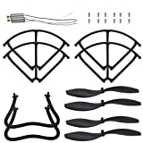 Holy Stone F183W RC Drone Quadcopter Spare Parts Crash Pack (1 Spare Blades Set+ 4 Propeller Guards+ 2 Landing Gears + 2 Replacement Motors)
