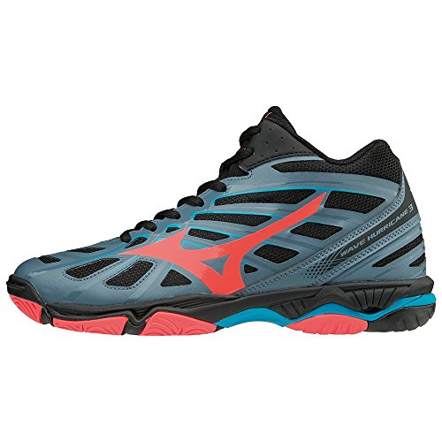 fierycoral 001 da bmirage Hurricane 3 basse donna multicolor Wave Sneakers blk Mid Mizuno O70vwqv
