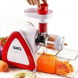 Aicok Slow Juicer Parts : SKG [6-in-1] Slow Masticating Juicer & Cold Press Juicer (Parts Included for Noodle Maker, Food ...