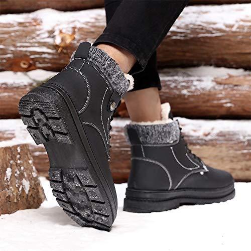 Et À Noir vent Hommes Toison Coupe La Mode Fausse L'intérieur Botte Hiver De shoes Pour Supporter Durable; L'usure Imperméable Bnd Travail Haute Décontractée wavPqnB