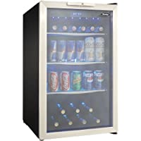 DBC039A1BDB 20 Freestanding Beverage Center with 4.3 cu. ft. Capacity 124 Can Capacity 3 Glass Shelves and Blue-LED Lighting in Stainless Steel