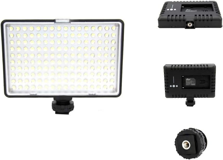 3200K-5500K 160 LED Adjustable Color Temperature Stepless Output Ideal for Camera Photo Studio Portrait Video QYRL Powerful Lightweight Video Fill Light Panel