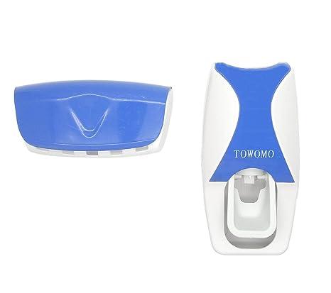 towomo dispensador de pasta de dientes automático con cepillo de dientes titular Set, manos libres