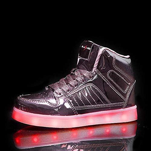 V2 Kids HI TOP LED Light Up Shoes Luminous Flashing Sneakers - 2