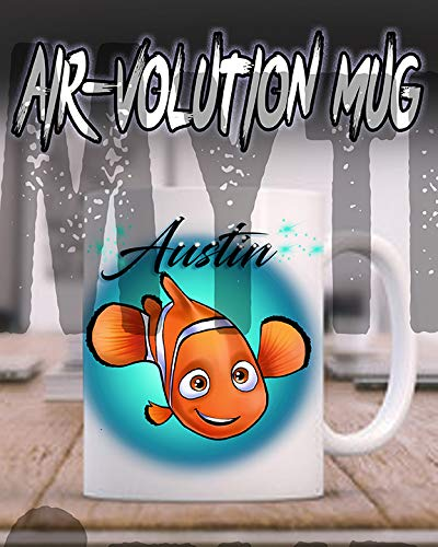 Finding Nemo Personalized - Personalized Airbrush Finding Nemo Ceramic Coffee Mug