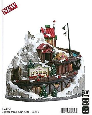 Amazon.de: Lemax - Coyote Peak Log Ride - Beleuchtete & Animierte ...