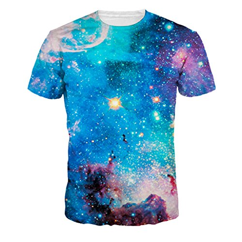 Unisex Mystical Blue Star Outer Space T-shirts Galactic