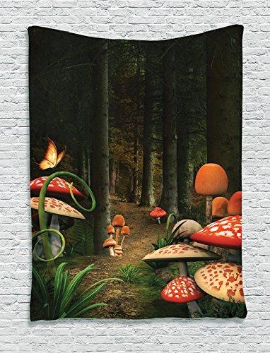 Mushroom Tapestry Ambesonne Mystical Pomegranate