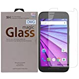 DMG Curved Tempered Glass Screen Protector for Motorola Moto G 3rd gen (Pack of 2 Arc 2.5D 9H 0.3mm Tempered Glass)