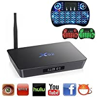 X92 3G/32G Android 6.0 Smart TV Box Amlogic S912 Octa-Core CPU 3GB RAM 32GB EMMC Flash 4K UHD Dual Band WIFI 2.4/5.0G Bluetooth 4.0 (Free 3 Colors in 1 Backlit Air Mouse)