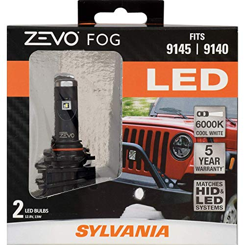 Bulb Month Club - SYLVANIA - 9145/9140 ZEVO FOG LED - Premium Quality Fog Lights, Bright White LED Light Output, Matches HID & LED Headlight Lighting Systems, Added Style & Performance (Contains 2 Bulbs)