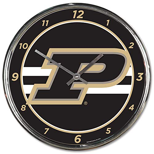(Purdue Boilermakers Round Chrome Wall Clock---(Package of 2))
