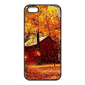 Personalized Creative Cell Phone Case For iPhone 6 4.7,glam autumn fallen leaves yellow trees
