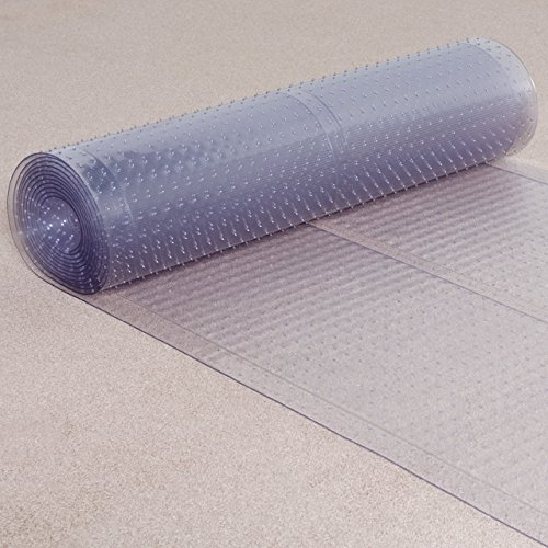 - ES Robbins Ribbed Runner, 27-Inch by 20-Feet, Clear