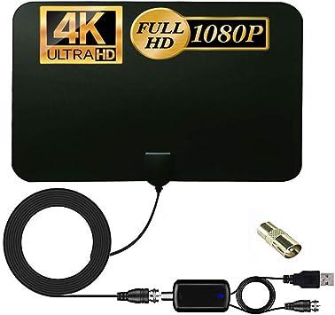 Antena de TV, antena de TV interior, antena de TV de 150 ...