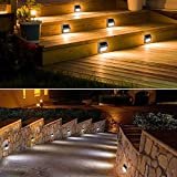 Cool White Solar Deck Lights Outdoor,Wireless LED