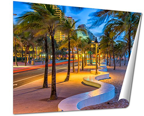 Ashley Giclee Fine Art Print, Ft Lauderdale Florida USA On The Beach Strip, 16x20, - Ft Olas Las Fl Lauderdale