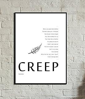 Stampa poster Creep. Stampa Radiohead. Poster Radiohead. Stile nordico. Stile scandinavo. Decorare con i poster. Regalo per lui. regalo per lei.
