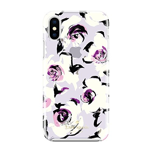 Incipio Technologies KSIPH-076-RFTP Kate Spade New York Cell Phone Case for iPhone X - Romantic Floral Translucent Purple None