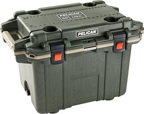 Pelican Elite 50 Quart Cooler (Green/Tan) (Ice Elite)