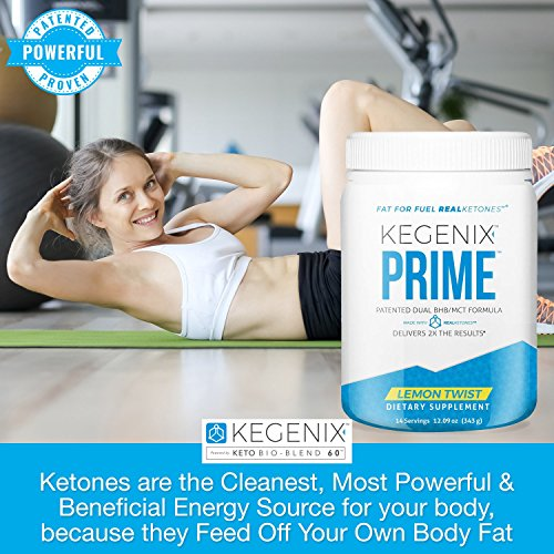 Kegenix Lemon Keto BHB Salts MCT Oil Ketogenic by Real Ketones. Produce Ketones Naturally. Day