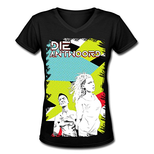 SP-Die-Antwoord-Poster-Women-V-Neck-Cotton-T-Shirt-Black