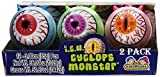 Cyclops ICU Eye Ball Jawbreaker with Rainbow Bubble Gum Center 2 Pack of 12 Ct. - Total of 24!