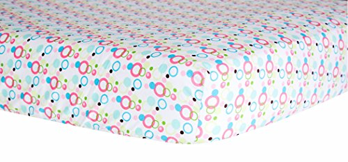 Trend Lab Dot Crib Sheet, Cupcake (Limeade Dot)