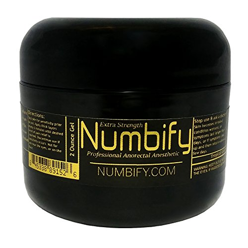 Numb-ify Numbing Gel 5% Lidocaine Extra Strength Anesthetic - Numb-ify's Strongest/Best Pain Relief & Numbing Gel (2 Oz)