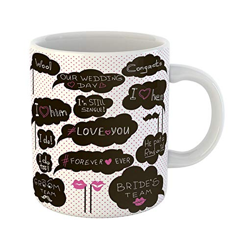 Emvency Coffee Tea Mug Gift 11 Ounces Funny Ceramic Props for Photos on Weddings Featuring Cute and Funny Phrases Gifts For Family Friends Coworkers Boss Mug (Best Wedding Speech Ever Father Of The Bride)